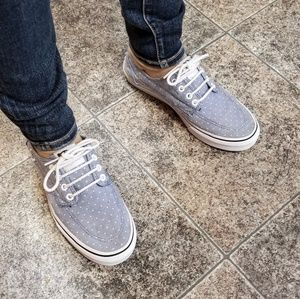 Vans blue grey sneakers sz 8.5